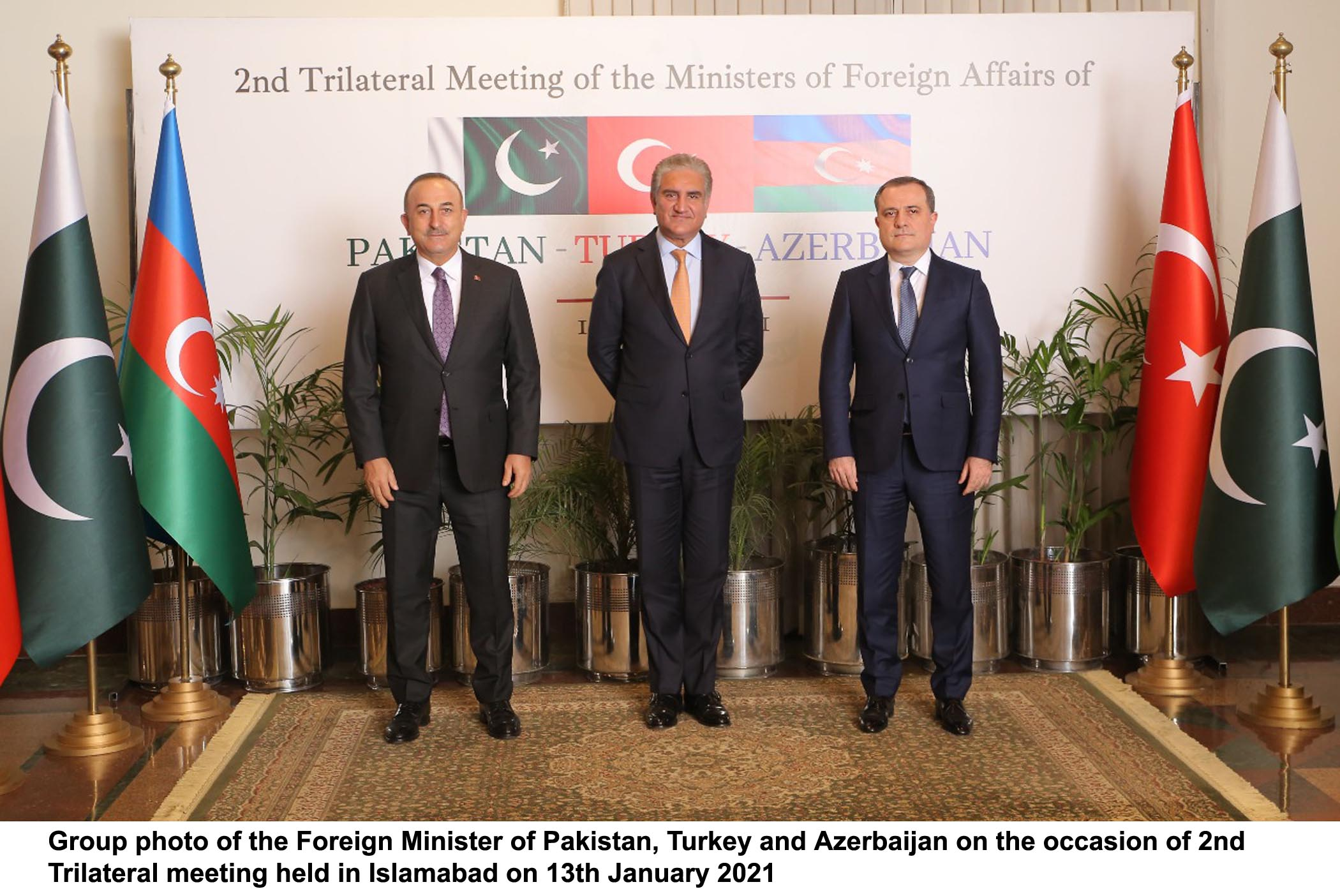 2nd round of talks among Pak, Turkish, Azerbaijan FMs today